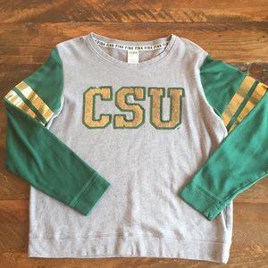 Pink CSU sweater Large
